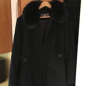 Coat with real fox fur